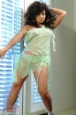 Green Dress Big Hair Tease picture 21