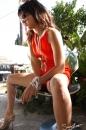 Orange Retro Jumpsuit Smoking picture 26