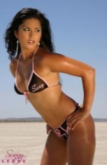 Black Bikini Desert Picture