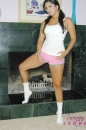 White Cotton Panties And Pink Shorts With The Fireplace picture 4