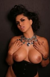 Jewel Necklace Black Corset Picture