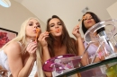 Lesbians Playing With Bubbles picture 1