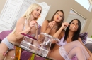Lesbians Playing With Bubbles picture 9
