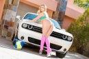 Anal Blonde Carwash picture 12
